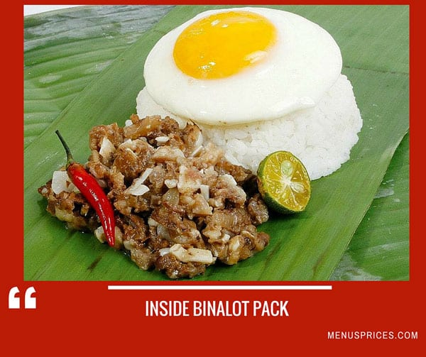 Binalot Restaurant Random Food