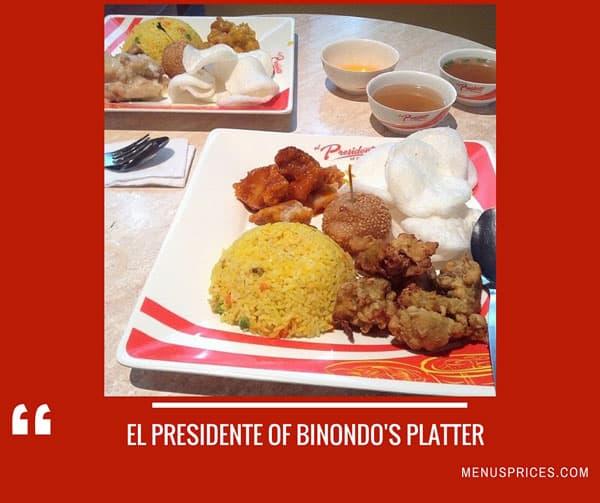 El Presidente Of Binondo Restaurant Random Food
