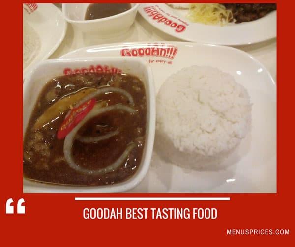 Goodah Restaurant Random Food
