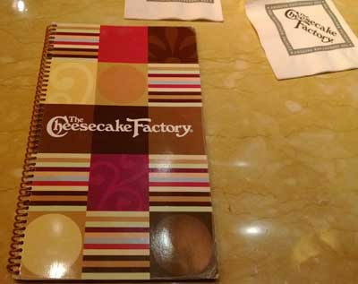 Introducing The Cheesecake Factory Menu!