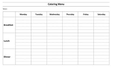 Microsoft Food Menu Templates