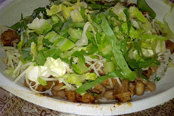 Chipotle Mexican Grill Burrito Bowl