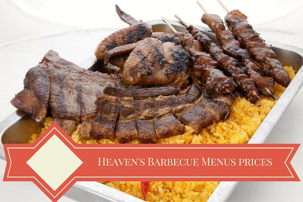 Heaven's Barbecue Menu and Prices