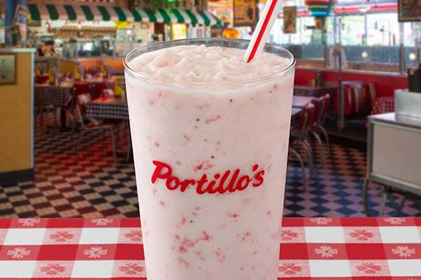 Portillos Strawberry Shake
