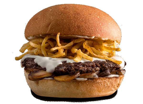 Mushroom Swiss Burger mooyah menu