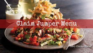 Claim Jumper Menu