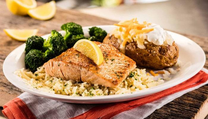 Lighter Side Grilled Salmon