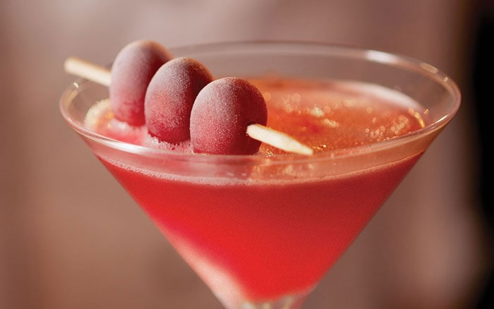Bonefish Pomegranate Martini