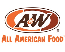 A&W restaurant official logo of the company