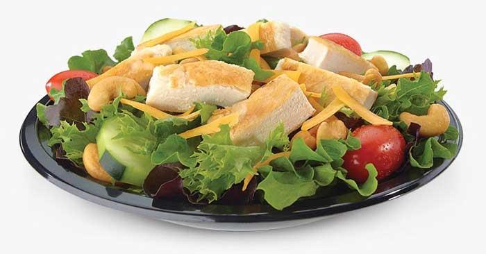 Chicken Cashew Salad with Grilled Chicken