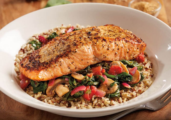 Enlightened Salmon Quinoa Bowl