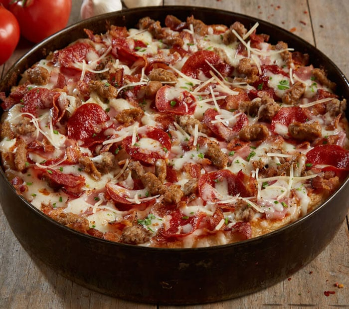 Gourmet Five Meat Pizza