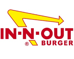 In-N-Out Burger official logo of the company