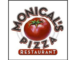 Monicals Pizza restaurant official logo of the company