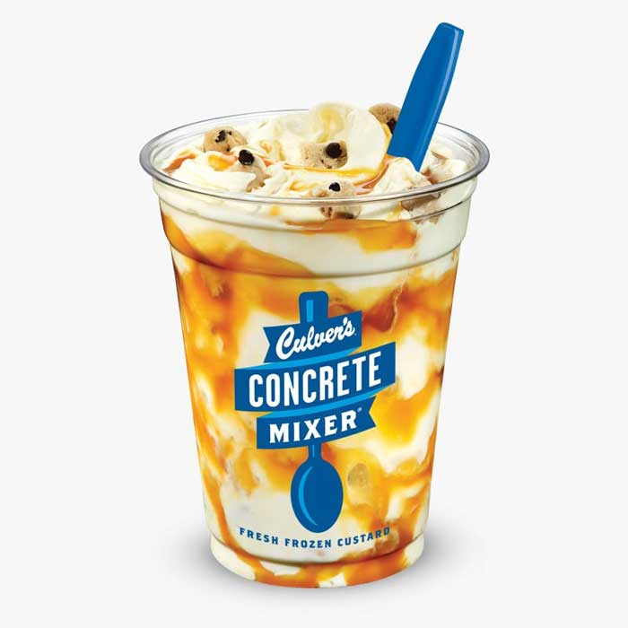 Salted Caramel Concrete Mixer made with Cookie Dough