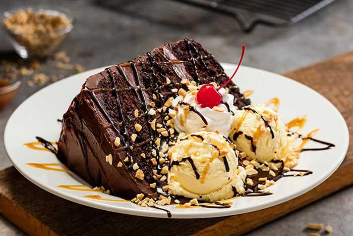 Hot Fudge Cake Sundae