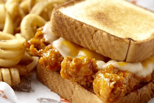 Hooters Original Chicken Strip Cheese Sandwich